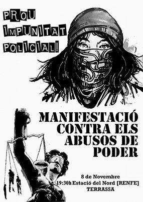 manifestacio contra abusos de poder 8 novembre terrassa