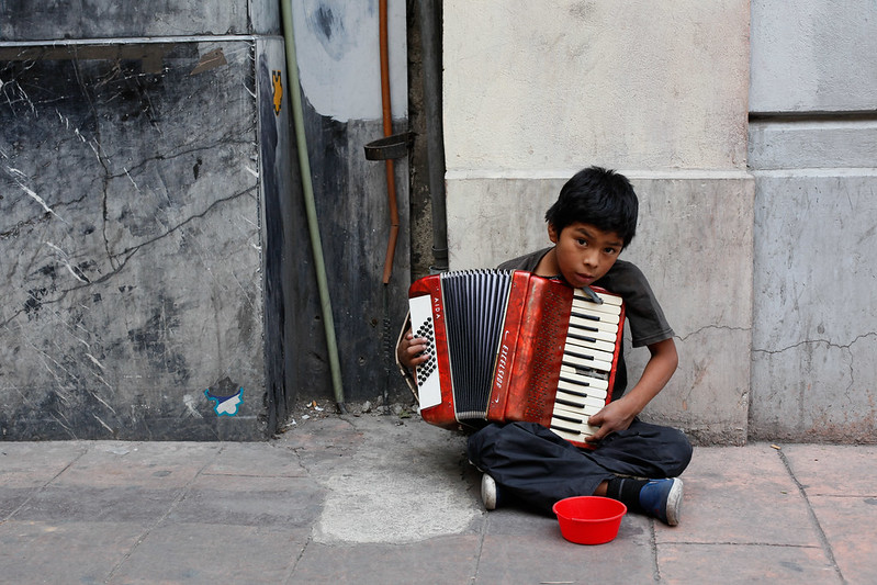 The Busker, Child Portrait, Mexico City