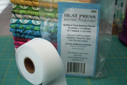 Heat Press batting tape - one of my favorite things