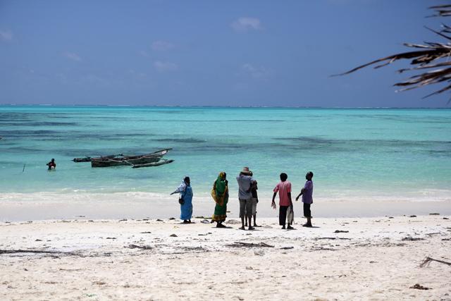 On the beach in Zanzibar