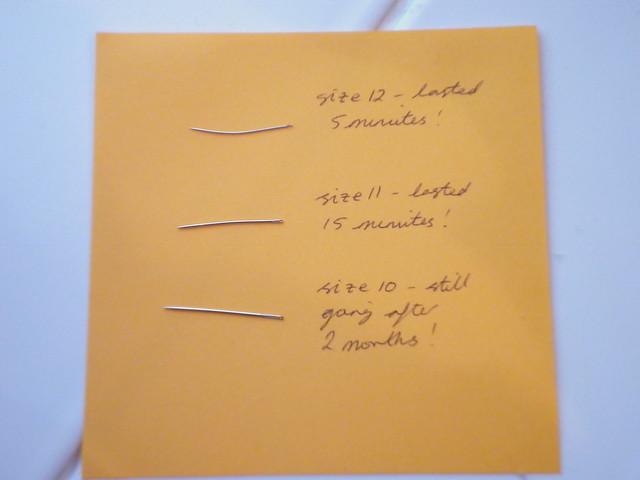 Needle woes