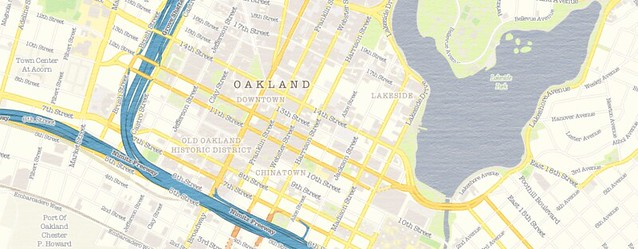 Alameda + Oakland + Berkeley, California, US, vector map Adobe PDF editable City Plan V5-2016.08, full vector, scalable, printable