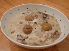 水, 2014-01-08 18:31 - Risotto w/ chestnut & mashuroom