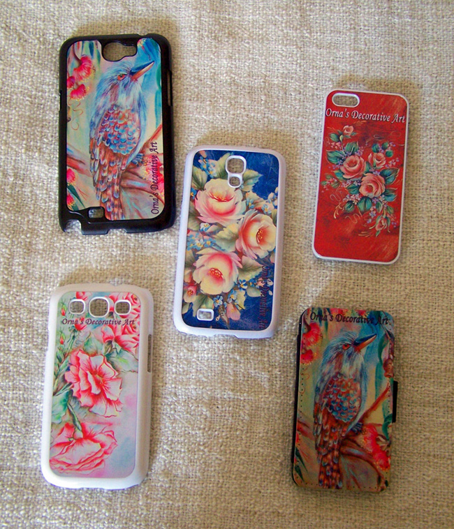 Phone cases by Orna Shachar