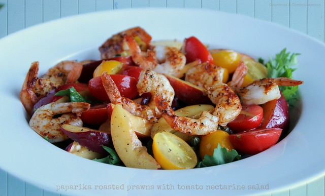 Paprika Roasted Prawns with Tomato Nectarine Salad 2