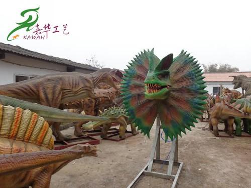 Kawah factory simulation dinosaur
