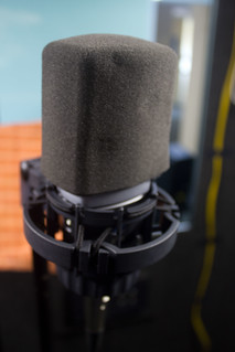 A microphone at ARTC Studio