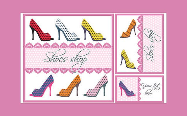 Shoes Vector Card Set fresh best free vector packs kits