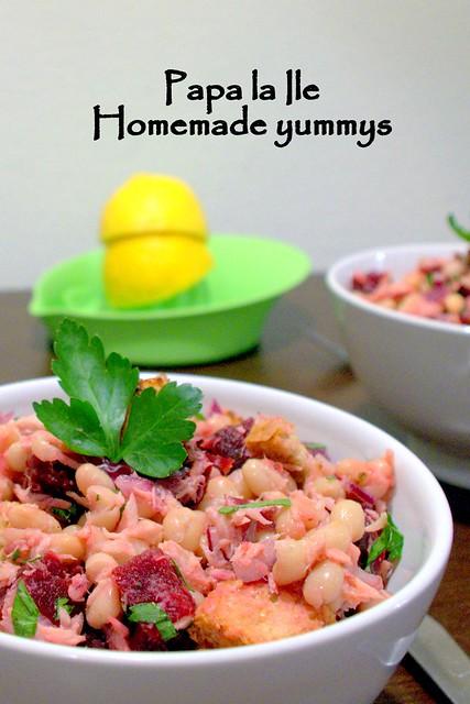 Salata cu fasole boabe si ton (1)