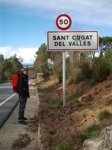 Javi en su llegada a Sant Cugat del Valles