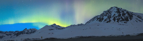 Solar storm in Hatchers Pass