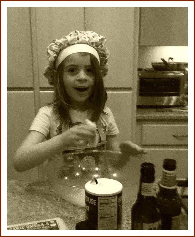Evie in the kitchen
