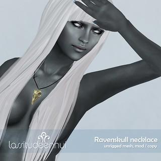 lassitude & ennui Ravenskull necklace
