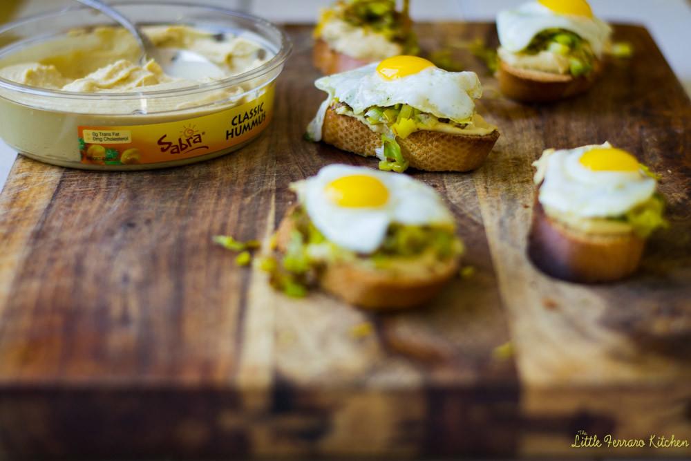 Hummus and Leek Crostini via LittleFerraroKitchen.com
