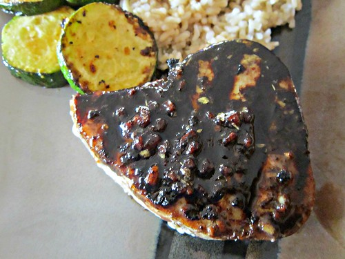 Tuna Steaks with Balsamic Reduction 007