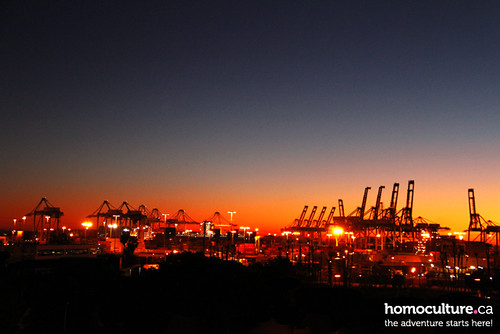 HomoCulture.ca posted a photo:Sunset over the port of Long Beach, California