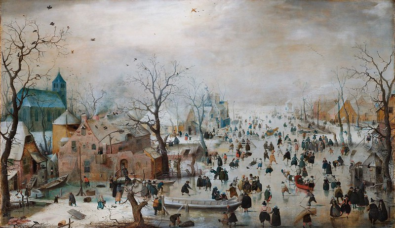Hendrick Avercamp - Winter Landscape with Ice Skaters (c.1608)