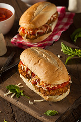 Hearty Homemade Chicken Parmesan Sandwich