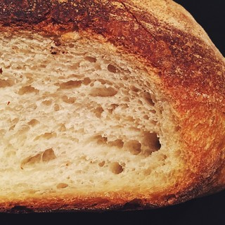 Pane cafone (neapolitan peasant bread) crust and crumb