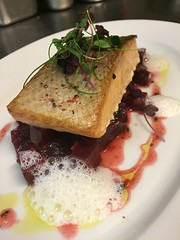 Somked Salmon  beetroot