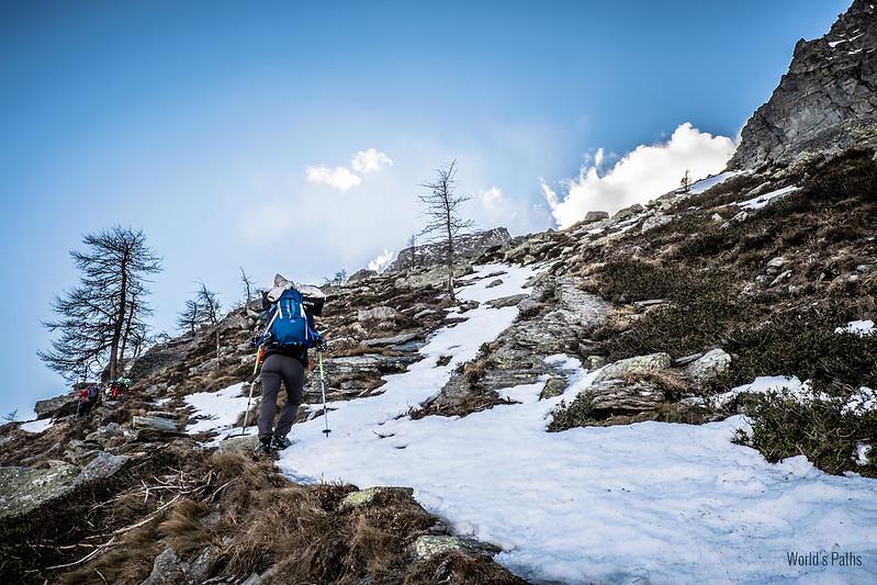 sentiero verso il Piero Vacca