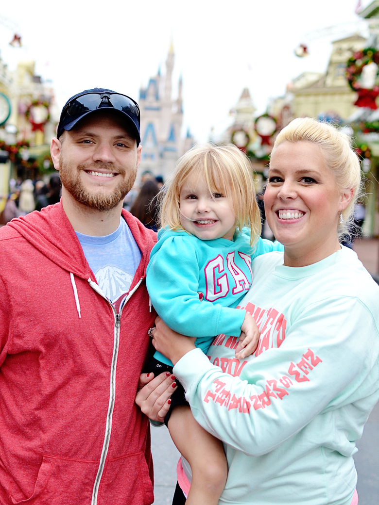 Family vacation at Disney Magic Kingdom, Orlando, Florida