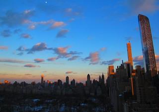 NYC glowing at sunset tonight