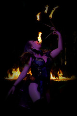 Fire-Eater at The Circus of Horrors