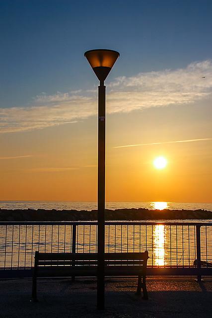 Looking at sunrise