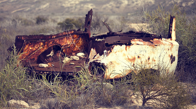 Old rusty Holden, Outback , Coral Bay, Western Australia