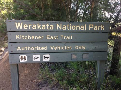 Kitchener East Trail sign, Werekata National Park