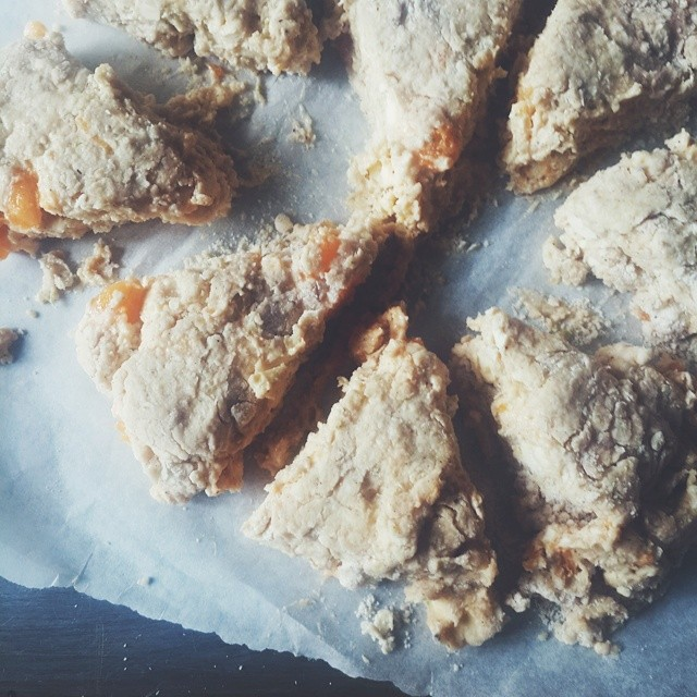 Oven ready - #Pawpaw and #lime #scones  Thank you @sconeladylarkin for the 'How to make scones' tutorial.  The wedges look weird but...... In happy  #kitchenbutterfly #newnigeriankitchen #Nigeriancuisine #Nigerianrecipes #Nigerianfood #naijafood #vscocam