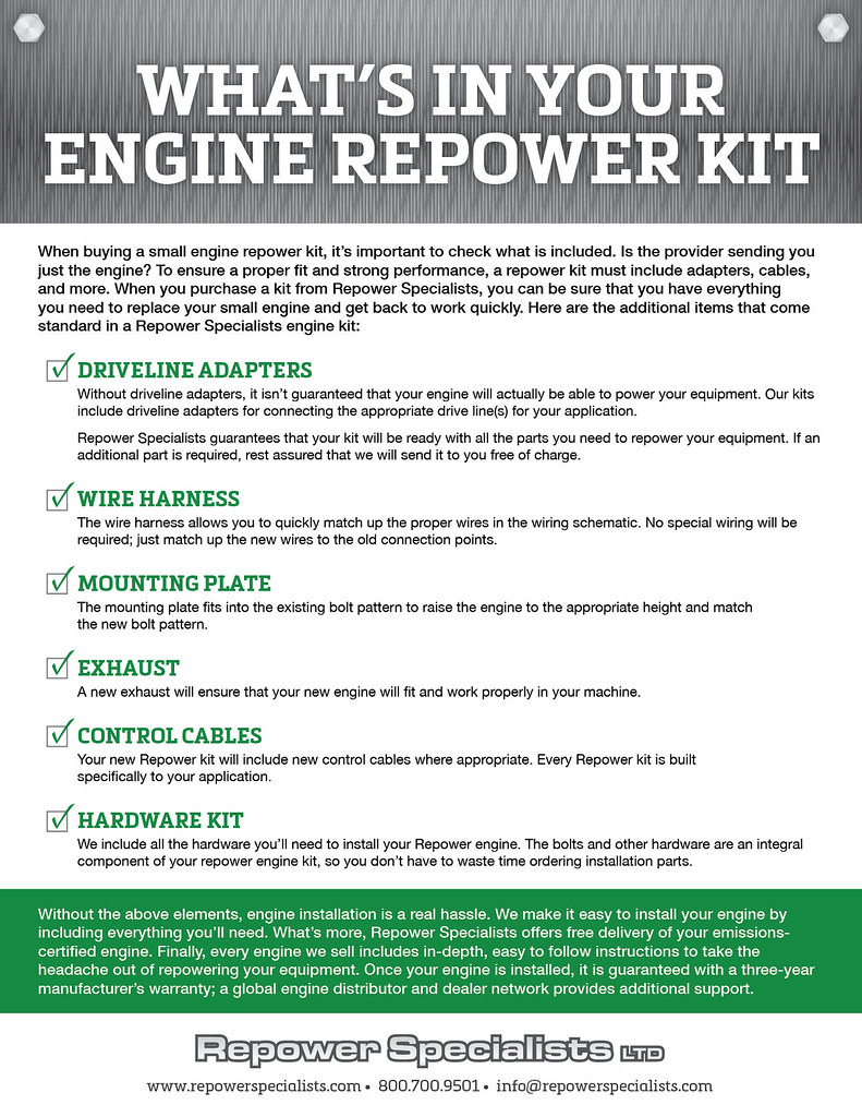 What's in Your Engine Repower Kit? | It's important to under… | Flickr