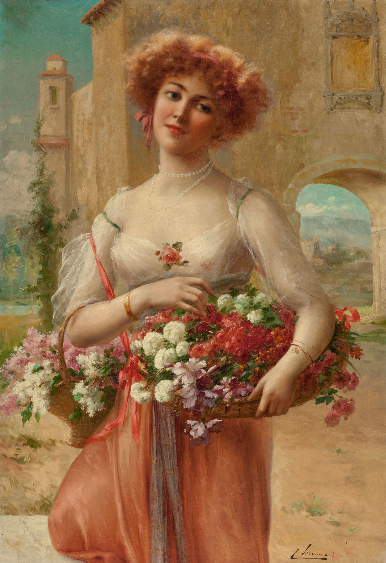 Roses by Emile Vernon - 1908