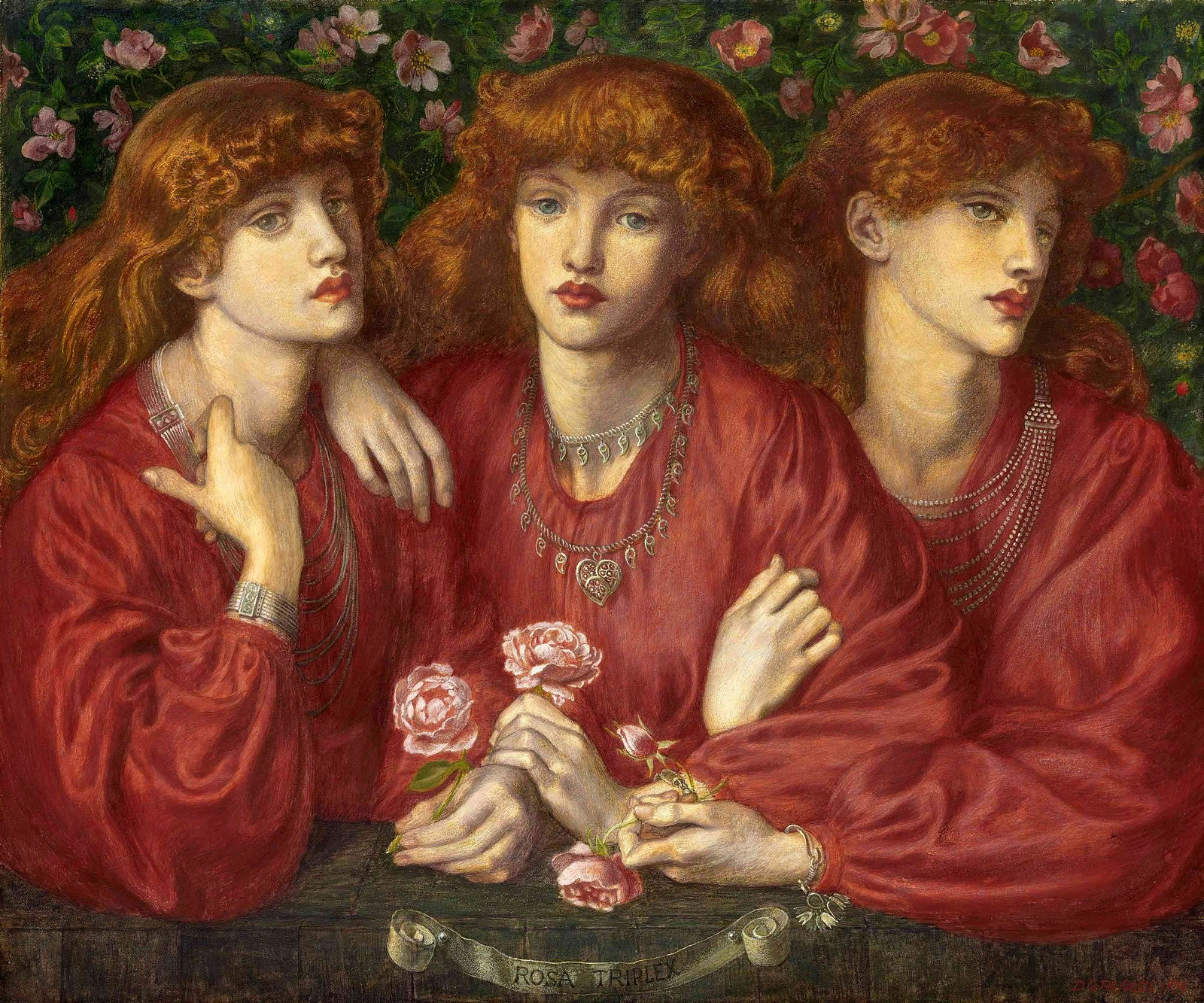 A Triple Portrait of May Morris by Dante Gabriel Rossetti - 1874