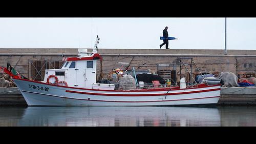 port landscape boat fisherman harbour delta catalunya vaixell ebre ampolla lampolla seracat pescal