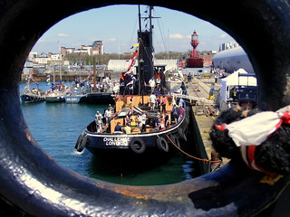 Steam Tug Challenge from the Rope Hole of the Shieldhall