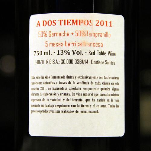 A DOS TIEMPOS 2011 - BODEGAS ALFREDO MAESTRO - VINO DEL MES