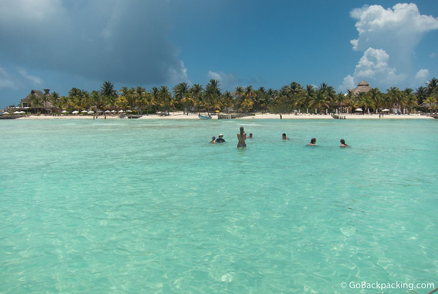Our group goes for a swim, before returning to the boat for a ceviche lunch