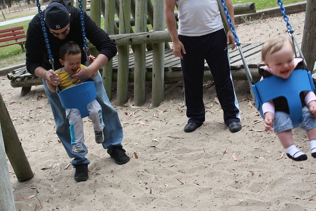Dads and Babies Swings