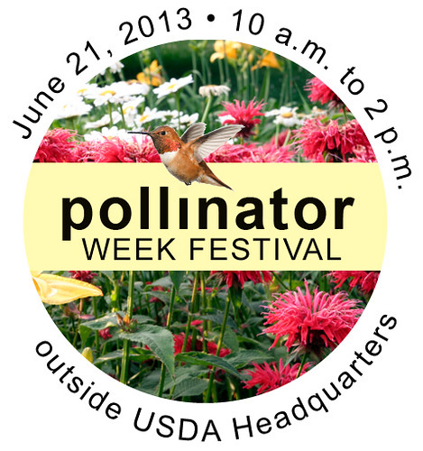 Celebrate at the Pollinator Week Festival on June 21 at USDA Headquarters. (Photo credit: 2013 Pollinator Week logo courtesy of Pollinator Partnership)