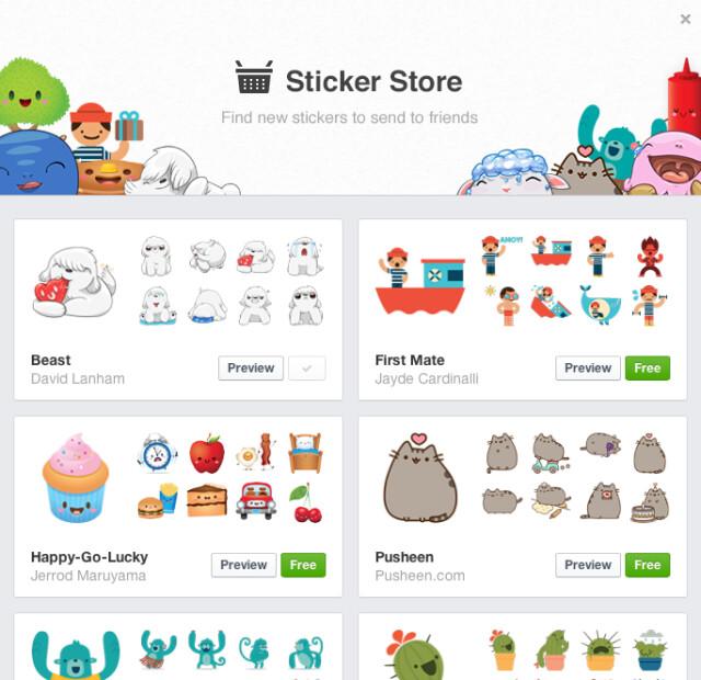Sticker Store in FB