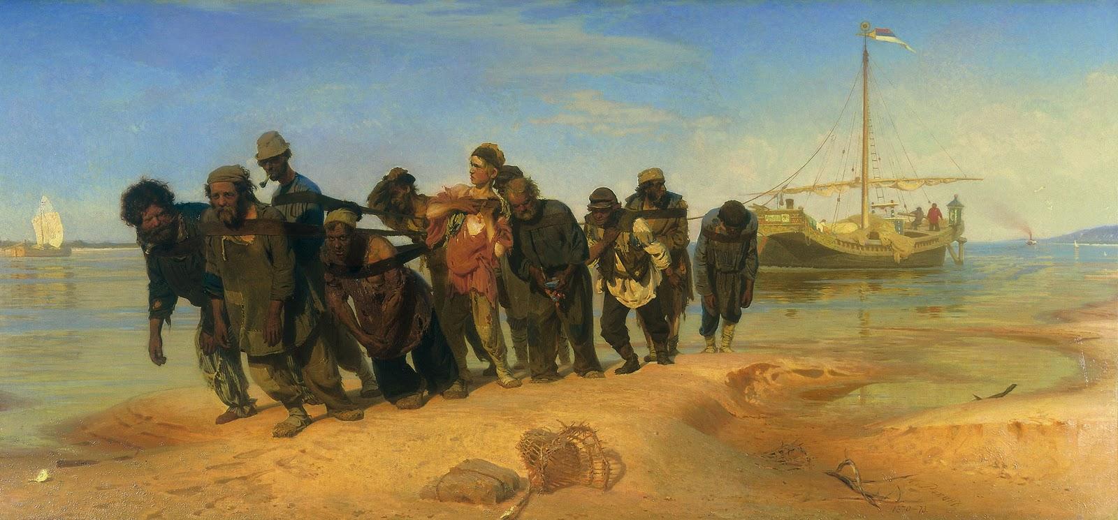 Los sirgadores del Volga. Iliá Yefímovich Repin (1870-73)