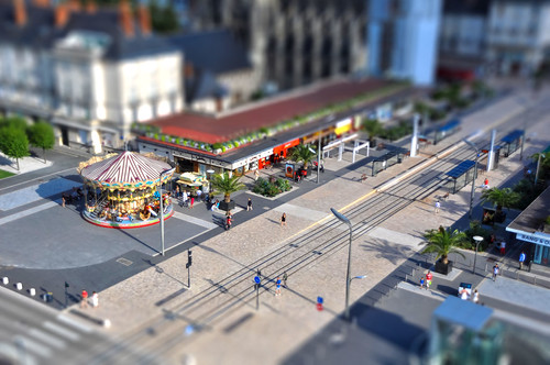 Tours, place Anatole France, #tiltshift by Sylvain Naudin