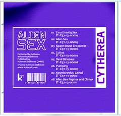 Cytherea - Alien Sex CD insert