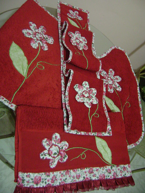 Jogo de banheiro flickr photo sharing for Pataka bano food mat