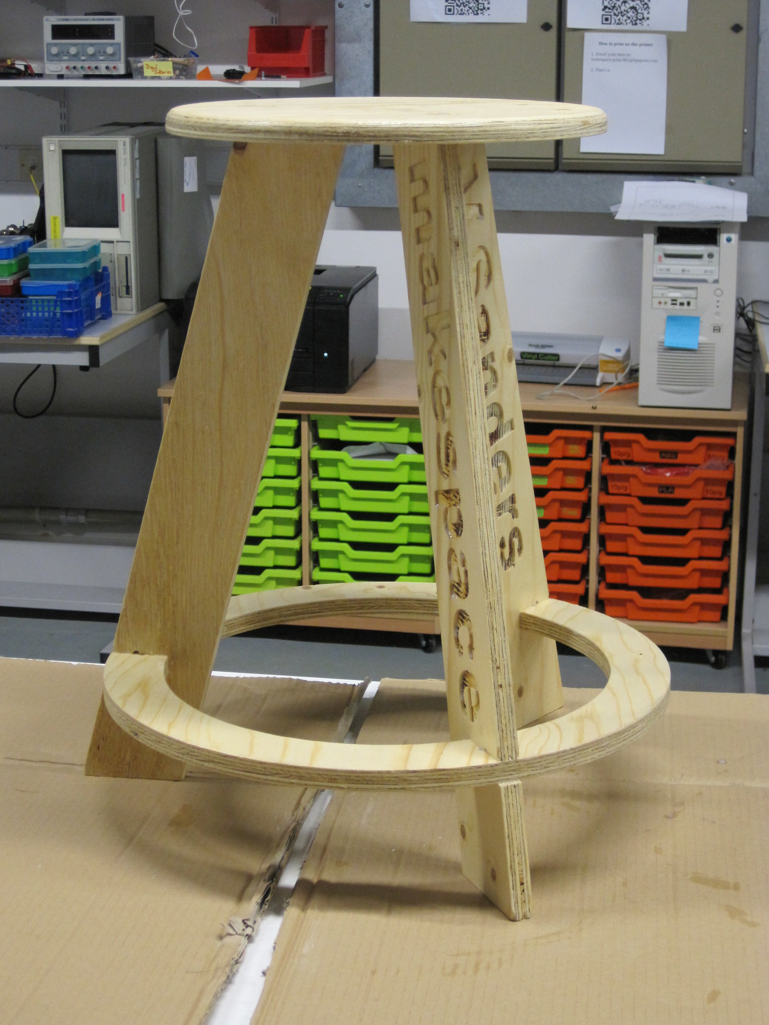 Completed 18mm stool