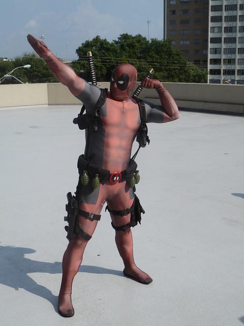 Deadpool Flexing