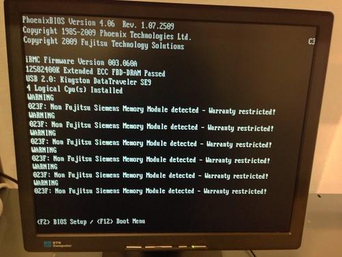 Fujitsu nem kompatibilis RAM