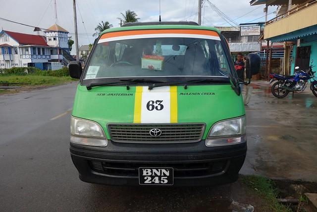 Minibus de New Amsterdam ate Corriverton, Guiana